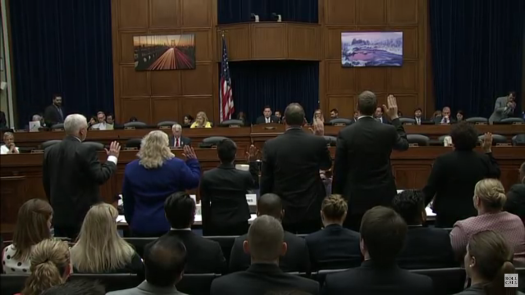 House oversight Committee Hearing